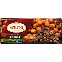 Valor Chocalate puro avellana 250g