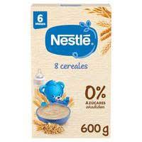 Nestlé Papillas 8 Cereales  a partir de 6 meses 600g