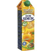 Don Simon Zumo de naranja con pulpa exprimido brik 1l