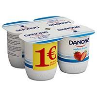 Iogurt sabor maduixa DANONE 4x120g