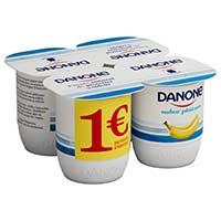 Danone Yogur sabor plátano 4x125g