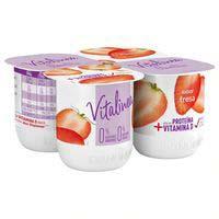 Danone Vitalinea Yogur de fresa desnatado 4x125g
