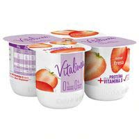 Iogurt de maduixa desnatat VITALINEA 4x120g