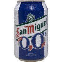 San Miguel Cerveza 0,0% lata 33cl