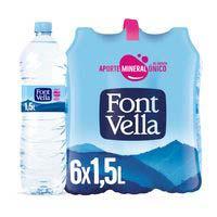 Font Vella agua mineral natural 6x1,5l