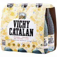 Agua mineral con gas VICHY CATALAN, pack 6x25 cl