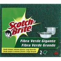 Scotch Brite Estropajo fibra verde 2u