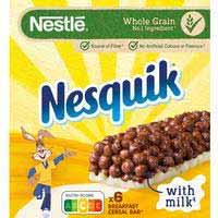 Nestlé Barritas de cereales nesquik 6x25g