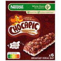 Barritas de cereales NESTLÉ Chocapic, 6 unid., caja 150 g