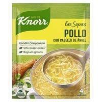 Knorr Sopa de pollo/cabello ángel 76g