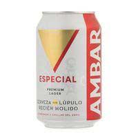 Cerveza especial AMBAR, lata 33 cl