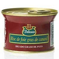 Delicass Bloc de foie gras d'ànec 130g