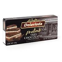 Turrón 3 chocolates DELAVIUDA, caja 200 g