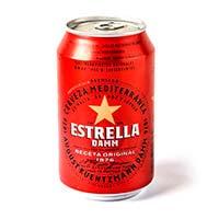 Cerveza ESTRELLA DAMM, lata 33 cl