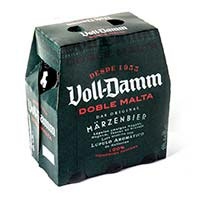 Cerveza extra VOLL DAMM, pack 6x25 cl