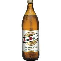 San Miguel Cerveza botella 1l