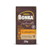 Café molido Colombia BONKA, paquete 250 g