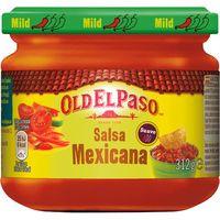 Salsa mexicana de tomate-cebolla-pim. OLD EL PASO, frasco 312 g
