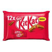 Barrita de chocolate con leche mini KIT KAT, pack 12x16,6 g
