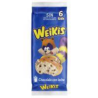 Weikis Brioix troçets xoco amb llet 240g