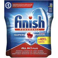 Finish Detergente lavavajillas Todo en 1 25 + 10 pastillas