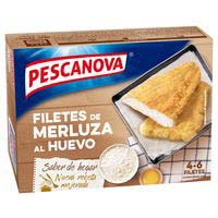 Filete de merluza rebozada PESCANOVA, caja 400 g