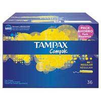Tampax Tampó Compak regular 36u