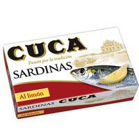Sardines amb llimona Cuca 125 g.