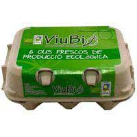 Huevo fresco M/L ecológico viubio ROIG, cartón 6 uds.