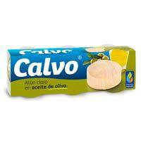 Calvo Atún claro aceite oliva lata 3x80g