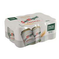 Cerveza SAN MIGUEL, pack lata 12x33 cl