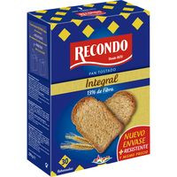 Recondo Pan tostado integral 270g