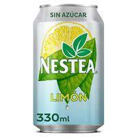Refresco de té negro al limón sin azúcar NESTEA, lata 33 cl