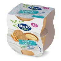 Hero Baby Merienda natillas y galleta 2x130g