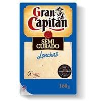 Gran Capitán Queso semicurado lonchas 160g
