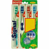 Signal Cepillo dental medio pack 4u