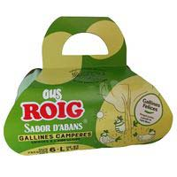 Huevo fresco L campero cesta ROIG, cartón 6 uds.