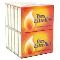 Tres Estrellas Cerillas pack 10 cajas