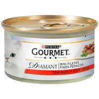 Gourmet Diamant Menjar gat bou 85g