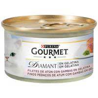 Gourmet Diamant Comida gato atún con gambas 85g