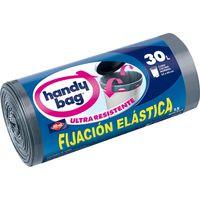 Handy Bag Bolsa basura elástica con asas 53x63 - 30 litros 15u