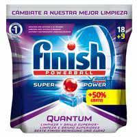 Finish Detergente lavavajillas Quantum 18 + 9 pastillas
