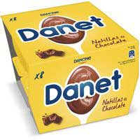 Natillas de chocolate DANONE Danet, pack 8x120 g