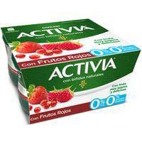 Iogurt bifidus desnatat de fruits vermells ACTIVIA 4x120g