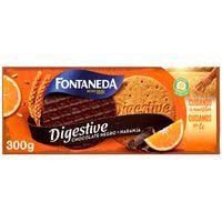 Fontaneda Galletas Digestive noir chocolate negro con naranja 300g