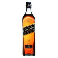 Whisky Black JOHNNIE WALKER, botella 70 cl + 2 Vasos