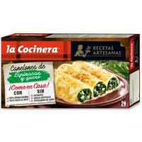 La Cocinera Receptes Artesanes Canelons d'espinacs formatge 530g