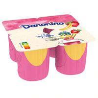 Danonino maxi de fresa y plátano Danone 4x100g