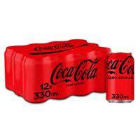 Coca Cola zero lata pack 12x33cl