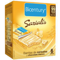 Bicentury Barritas chocolate blanco 120g